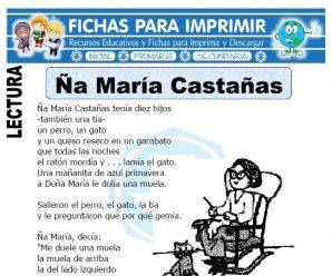 Ficha de Ña Maria Castañas para Primaria