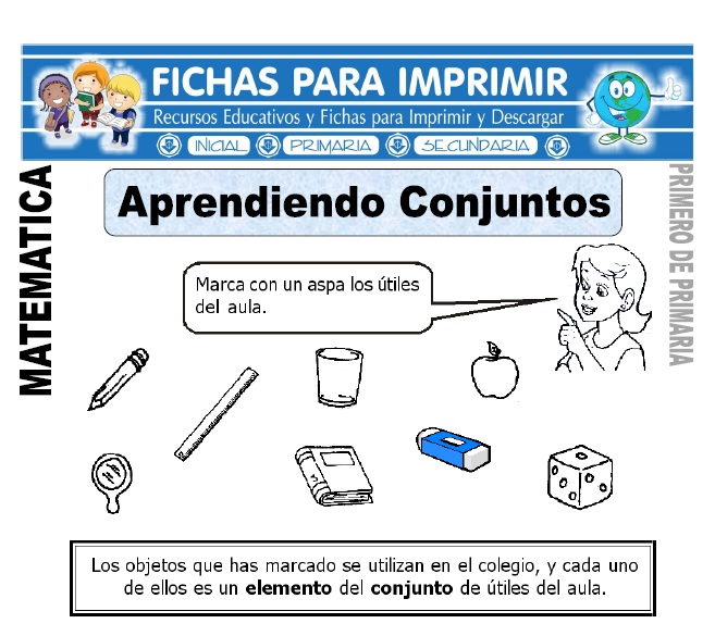 aprendiendo conjuntos para primero de primaria