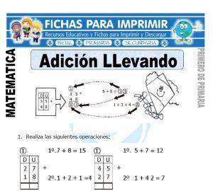 aprendiendo la adicion llevando para primero de primaria