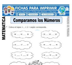 comparamos numeros para primero de primaria