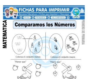 comparamos los numeros para primero de primaria