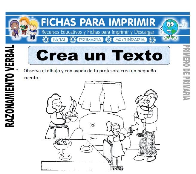 creando un texto para primero de primaria