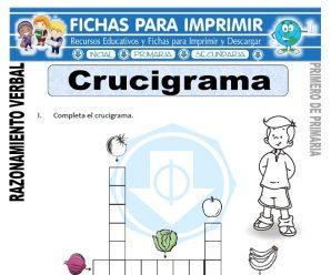 Crucigrama para Primero de Primaria