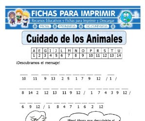 Ficha de Cuidar a los Animales para Primaria