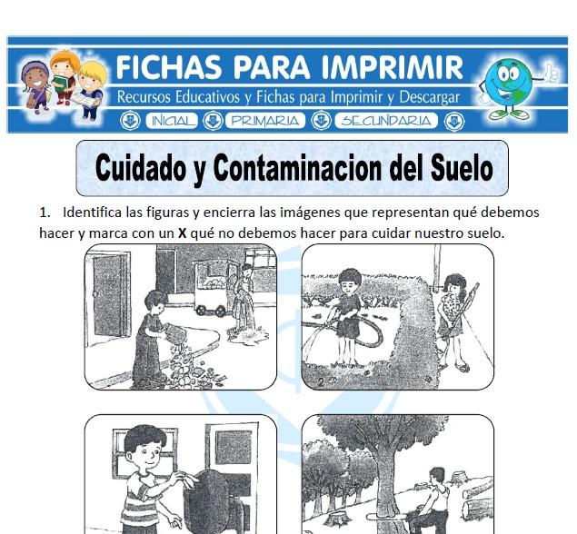 Ficha de cuidado y contaminaci n del suelo fichas para for 5 cuidados del suelo