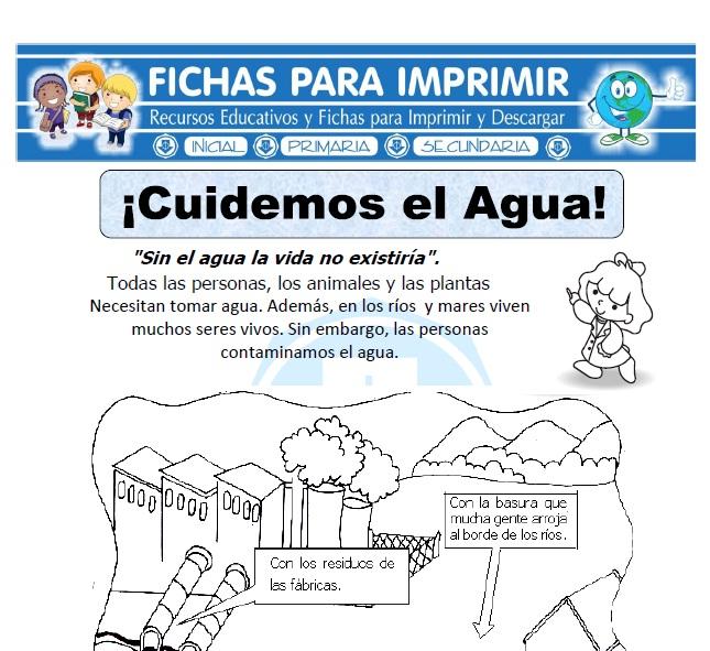 cuidar el agua para primaria