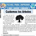 Ficha de Cuidemos los Arboles para Primaria