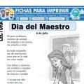 Ficha del Día del Maestro para Primaria