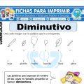Ficha de Diminutivo para Primero de Primaria