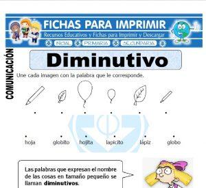 diminutivo para primero primaria