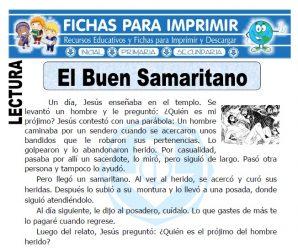 Ficha de El Buen Samaritano para Primaria