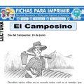 Ficha de El Campesino para Primaria