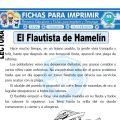 Ficha de El Flautista de Hamelín para Primaria