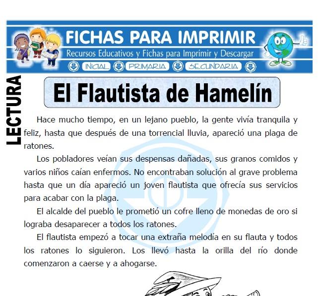 el flautista de hamelin para primaria