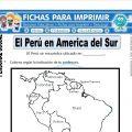 El Perú en América del Sur – Primero de Primaria