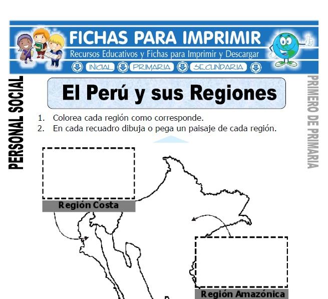 el peru y sus regiones para primero de primaria