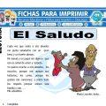 Ficha de El Saludo para Primaria