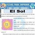 Ficha de El Sol para Primero de Primaria