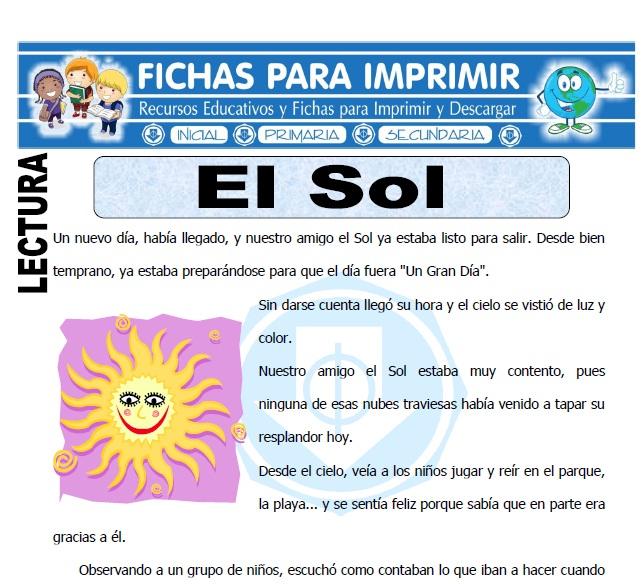 el sol para primaria