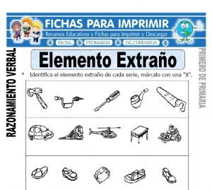 elemento extraño para primero de primaria
