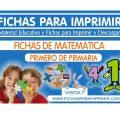 Fichas de Matemática para Primero de Primaria