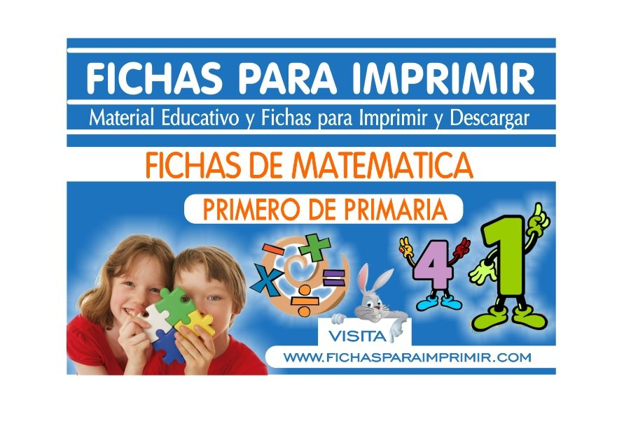 fichas de matematica para primero primaria