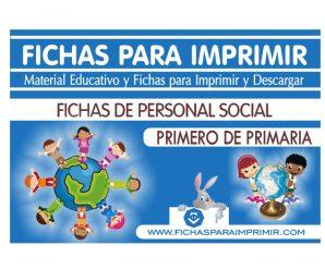 Fichas de Personal Social para Primero de Primaria
