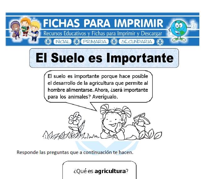 Ficha de importancia del suelo para primaria fichas para - Suelos para ninos ...