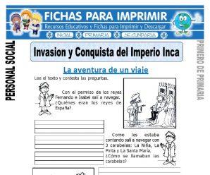 Conquista del Imperio Inca para Primero de Primaria
