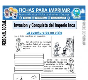 invasion y conquista del imperio inca para primero de primaria