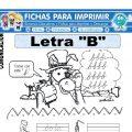Ficha de La Letra B para Primero de Primaria
