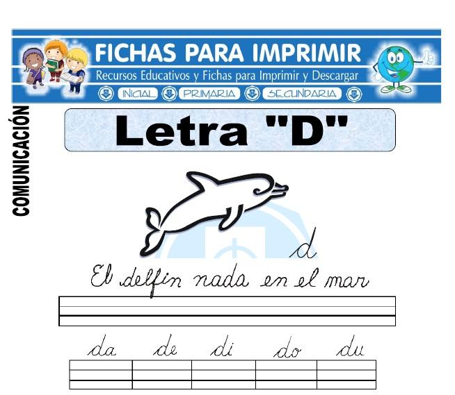 la letra d para primero primaria