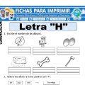 Ficha de La Letra H para Primero de Primaria