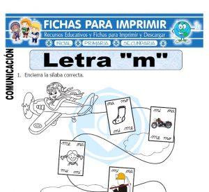 la letra m para primero primaria