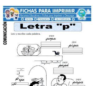 la letra p para primero primaria