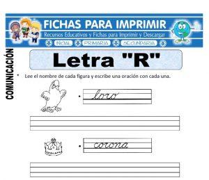 la letra r para primero primaria