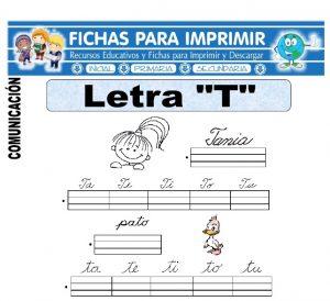 la letra t para primero primaria