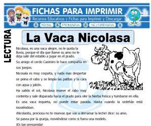 Ficha de La Vaca Nicolasa para Primaria