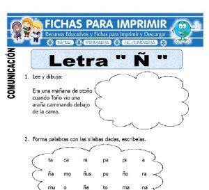 letra-Ñ-para-primero-primaria