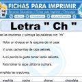 Ficha de La Letra Ch para Primero de Primaria