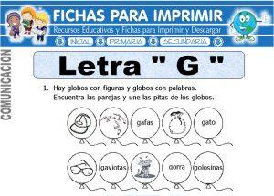 letra G para primero primaria