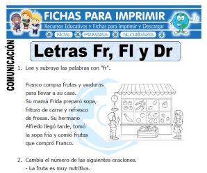 La Letra Fr, Fl y Br para Primero de Primaria
