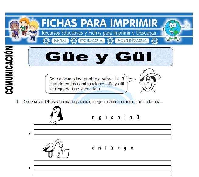 letra güe güi para primero de primaria