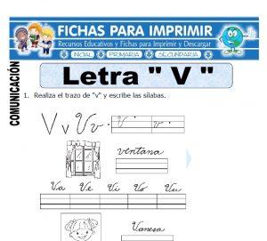 letra v para primero primaria