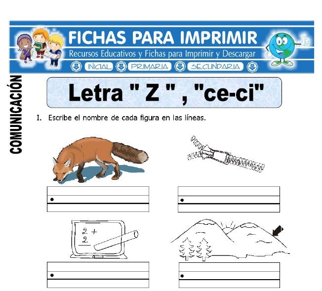 letra z y ce ci para primero de primaria