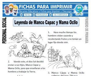 Manco Capac y Mama Ocllo Primero Primaria