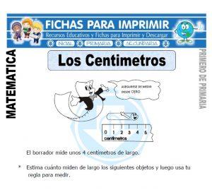 los centimetros para primero de primaria