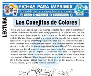 Ficha de Los Conejitos de Colores para Primaria
