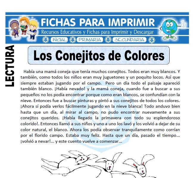 los conejitos de colores para primaria
