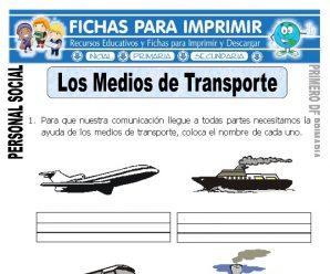Medios de Transporte para Primero de Primaria